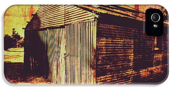 Damage iPhone 5 Case - Weathered Vintage Rural Shed by Jorgo Photography - Wall Art Gallery