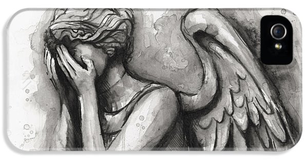 Weeping Angel Watercolor IPhone 5 Case