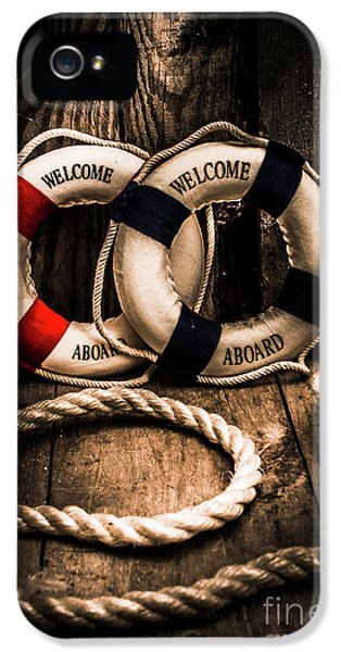 Welcome Aboard The Dark Cruise Line IPhone 5 Case by Jorgo Photography - Wall Art Gallery