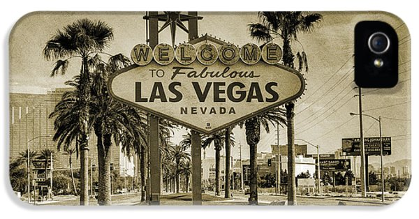 Welcome To Las Vegas Series Sepia Grunge IPhone 5 Case