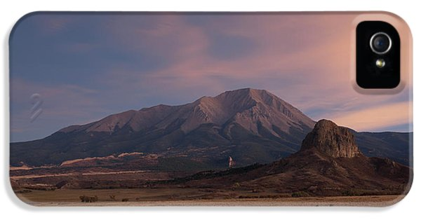 IPhone 5 Case featuring the photograph West Spanish Peak Sunset by Aaron Spong