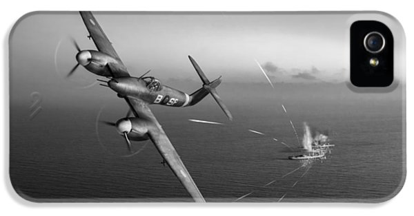 IPhone 5 Case featuring the photograph Westland Whirlwind Attacking E-boats Black And White Version by Gary Eason