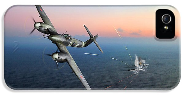 IPhone 5 Case featuring the photograph Westland Whirlwind Attacking E-boats by Gary Eason