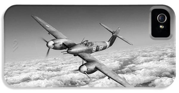 IPhone 5 Case featuring the photograph Westland Whirlwind Portrait Black And White Version by Gary Eason