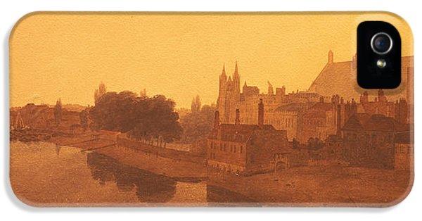 Westminster Abbey  IPhone 5 Case by Peter de Wint