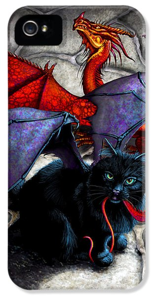 Dragon iPhone 5 Case - What The Catabat Dragged In by Stanley Morrison