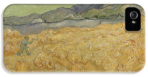 Wheatfield With Reaper IPhone 5 Case