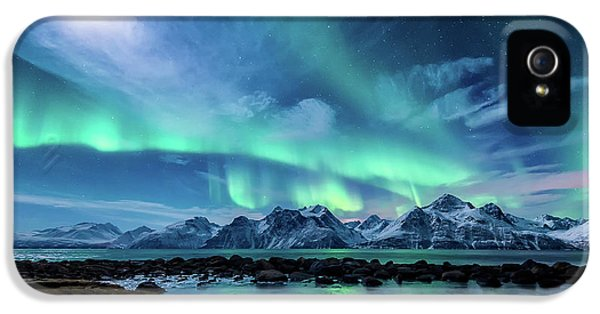 Mountain iPhone 5 Case - When The Moon Shines by Tor-Ivar Naess