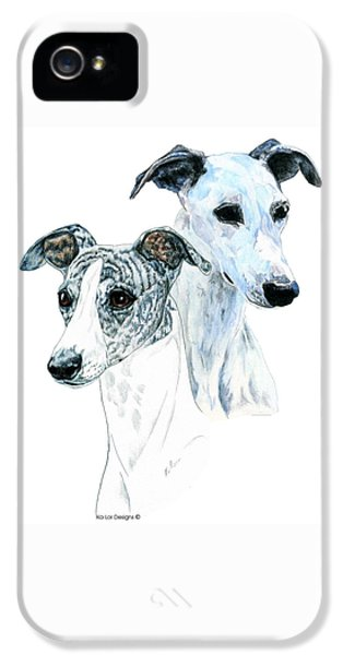 Whippet Pair IPhone 5 Case