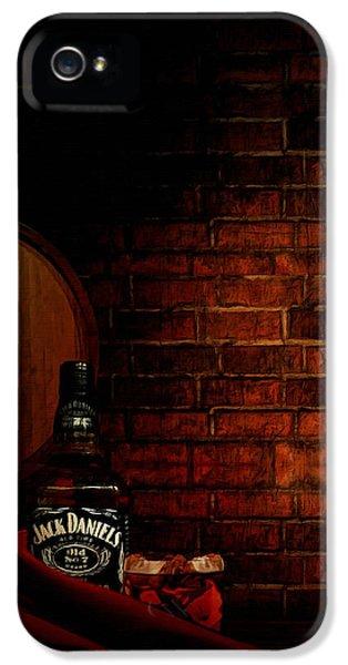 Whiskey Fancy IPhone 5 Case by Lourry Legarde
