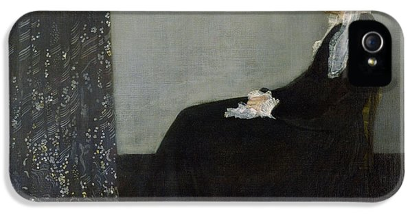 Whistlers Mother IPhone 5 Case by James Abbott McNeill Whistler