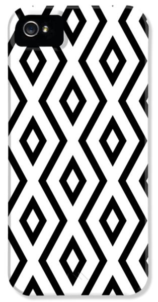 White And Black Pattern IPhone 5 Case by Christina Rollo