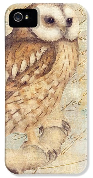 Owl iPhone 5 Case - White Faced Owl by Mindy Sommers