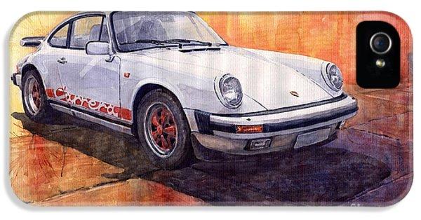 White Red Legend Porsche 911 Carrera IPhone 5 Case