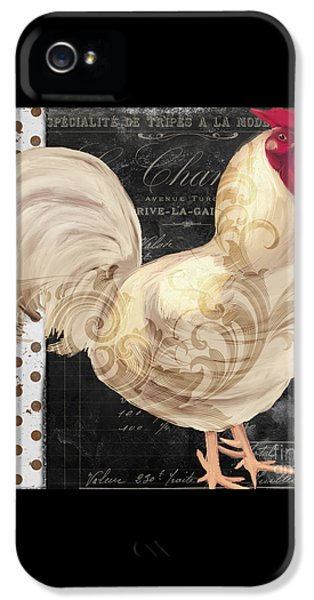White Rooster Cafe I IPhone 5 Case by Mindy Sommers