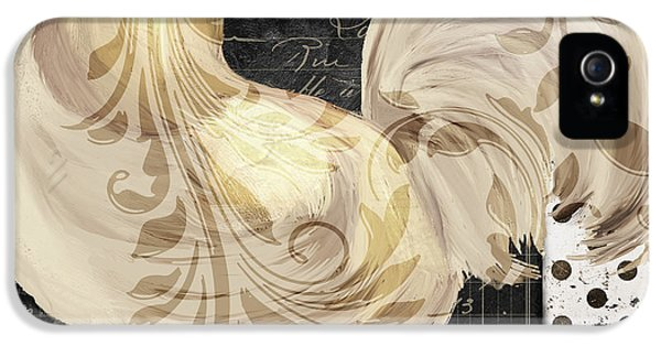 Rooster iPhone 5 Case - White Rooster Cafe II by Mindy Sommers