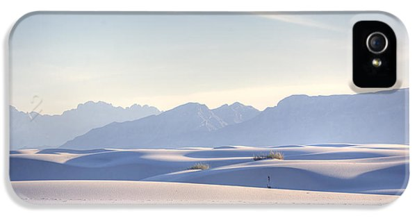 Desert iPhone 5 Case - White Sands Blue Sky by Peter Tellone