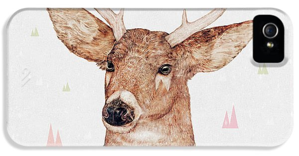 White Tailed Deer Square IPhone 5 / 5s Case by Animal Crew