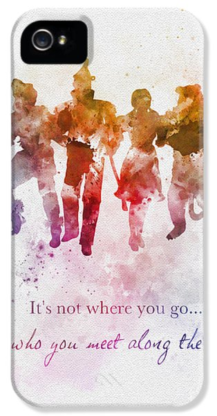 Wizard iPhone 5 Case - Who You Meet Along The Way by Rebecca Jenkins