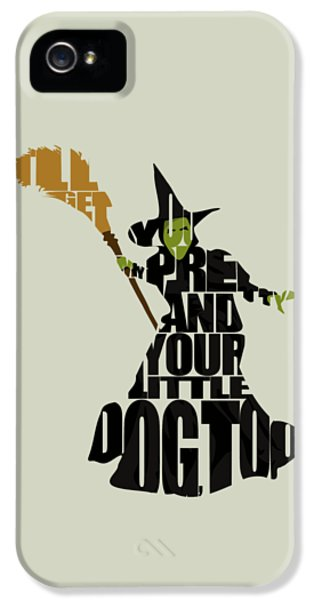 Wizard iPhone 5 Case - Wicked Witch Of The West by Inspirowl Design