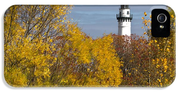 Wind Point Lighthouse In Fall IPhone 5 Case