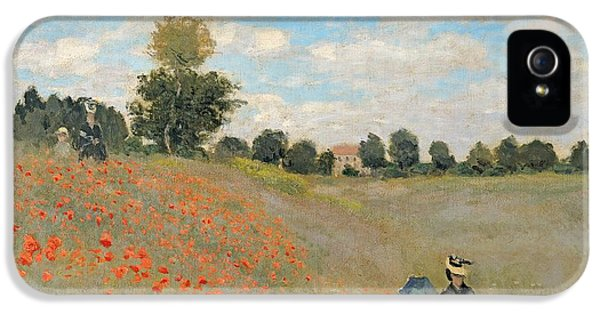 Wild Poppies Near Argenteuil IPhone 5 Case by Claude Monet