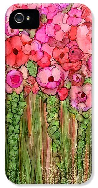 Floral iPhone 5 Case - Wild Poppy Garden - Pink by Carol Cavalaris