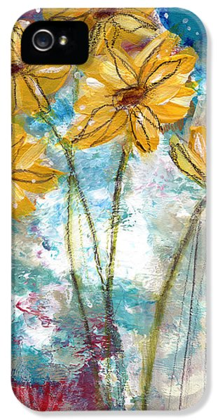 Sunflower iPhone 5 Case - Wild Sunflowers- Art By Linda Woods by Linda Woods