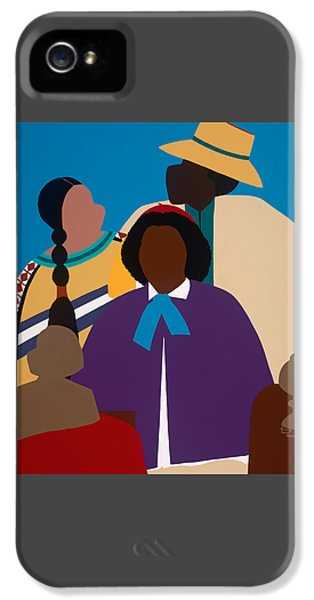 iPhone 5 Case - Wildfire A Tribute To Edmonia Lewis by Synthia SAINT JAMES