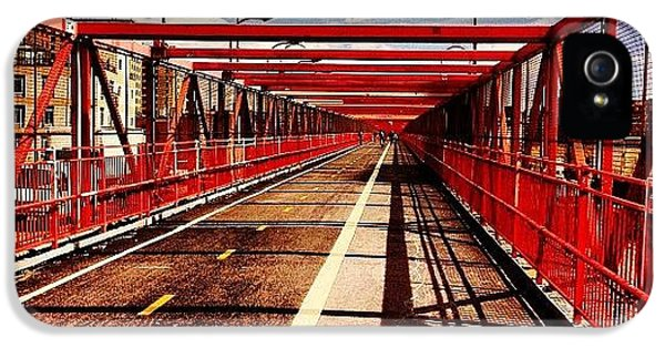 Williamsburg Bridge - New York City IPhone 5 Case by Vivienne Gucwa