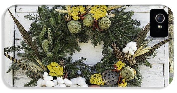 Williamsburg Wreath 09b IPhone 5 Case by Teresa Mucha