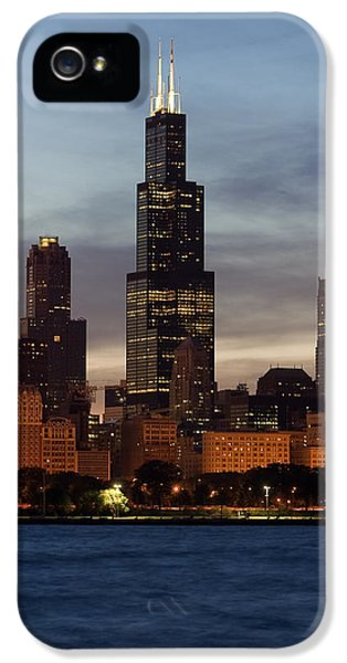 Sears iPhone 5 Cases - Willis Tower at Dusk aka Sears Tower iPhone 5 Case by Adam Romanowicz