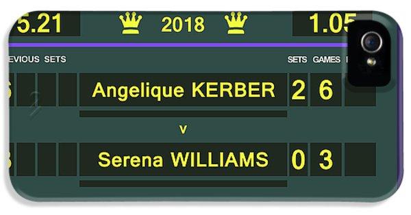 Wimbledon Scoreboard - Customizable - 2017 Muguruza IPhone 5 Case
