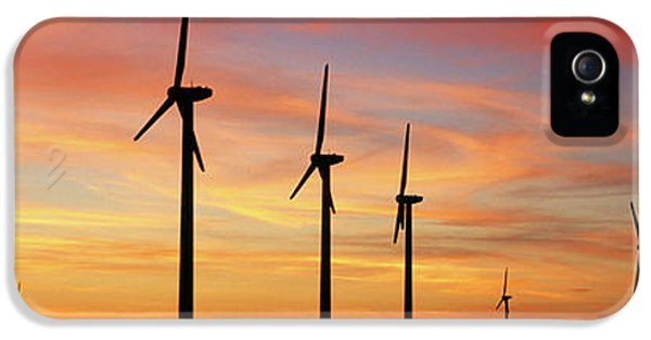 Wind Turbine In The Barren Landscape IPhone 5 Case by Panoramic Images
