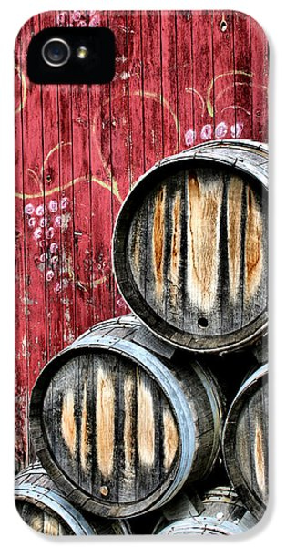 Wine Barrels IPhone 5 Case by Doug Hockman Photography