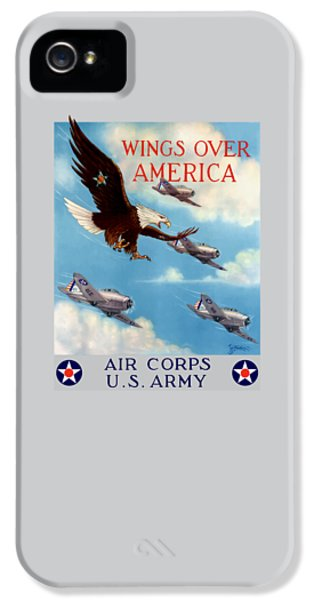Wings Over America - Air Corps U.s. Army IPhone 5 Case by War Is Hell Store