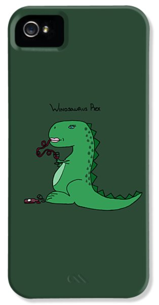 Winosaurus Rex IPhone 5 Case by Tamera Dion