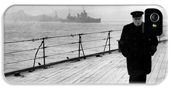 Winston Churchill At Sea IPhone 5 Case by War Is Hell Store