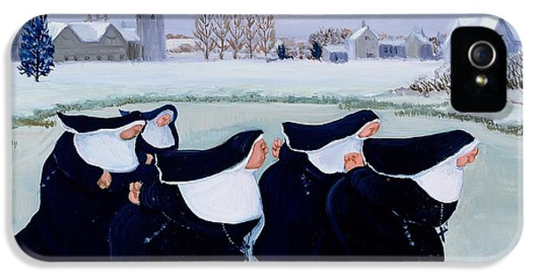Winter At The Convent IPhone 5 Case by Margaret Loxton
