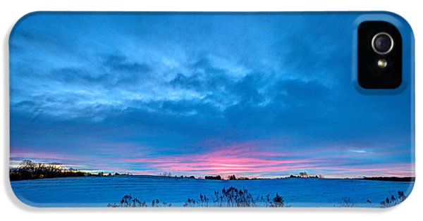 Winter Blues With A Hint Of Pink IPhone 5 Case