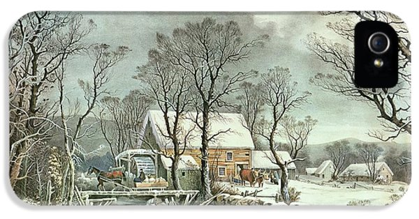 Winter In The Country - The Old Grist Mill IPhone 5 Case