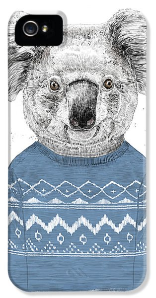 Koala iPhone 5 Case - Winter Koala by Balazs Solti