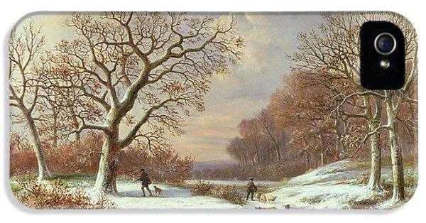 Winter Landscape IPhone 5 Case by Louis Verboeckhoven