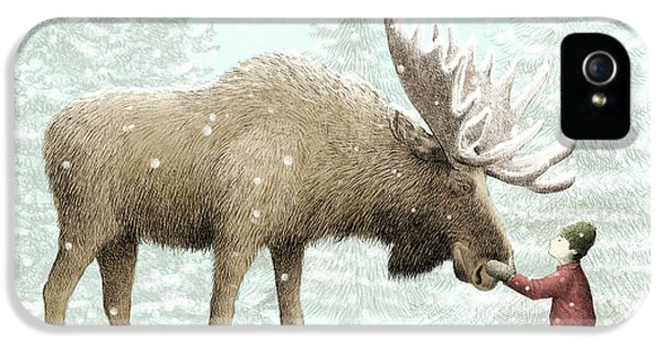 Winter Moose IPhone 5 Case