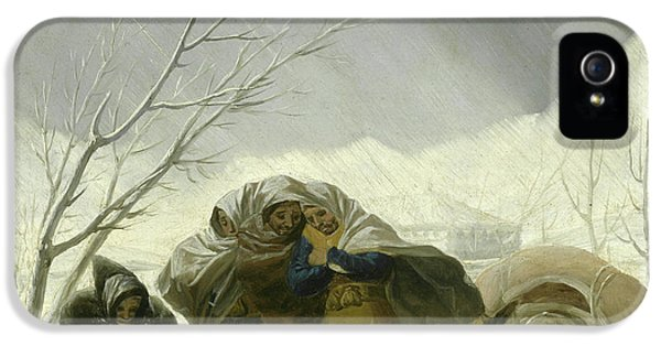 Winter Scene IPhone 5 Case by Goya