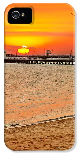 Beach Sunset iPhone 5 Case - Wish You Were Here by Az Jackson