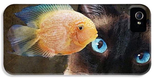 Wishful Thinking 2 - Siamese Cat Art - Sharon Cummings IPhone 5 Case