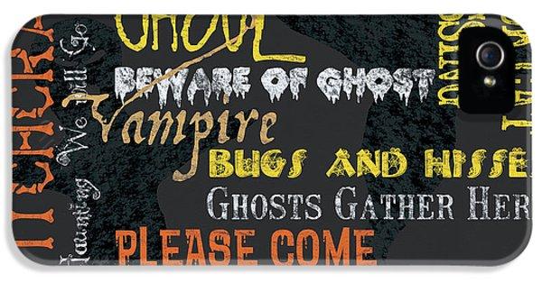 Witchcraft Typography IPhone 5 Case by Debbie DeWitt