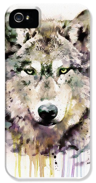 Wolf iPhone 5 Case - Wolf Head by Marian Voicu
