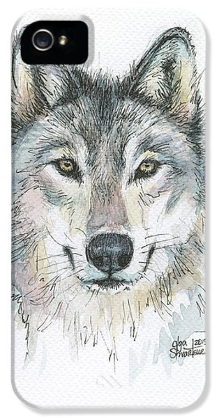 Wolves iPhone 5 Case - Wolf by Olga Shvartsur